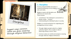 Four Functions of Religion PowerPoint: Click to download