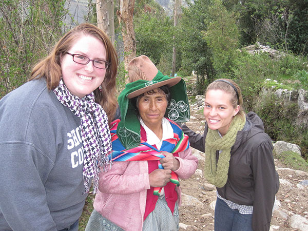 Lauren with a native of Peru