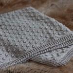 Knot Stitch Baby Blanket Free Knitting Pattern Shortrounds