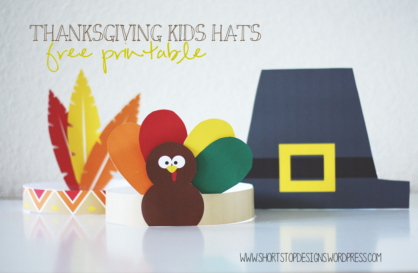 Thanksgiving Kids Hats Free Printables Short Stop Designs