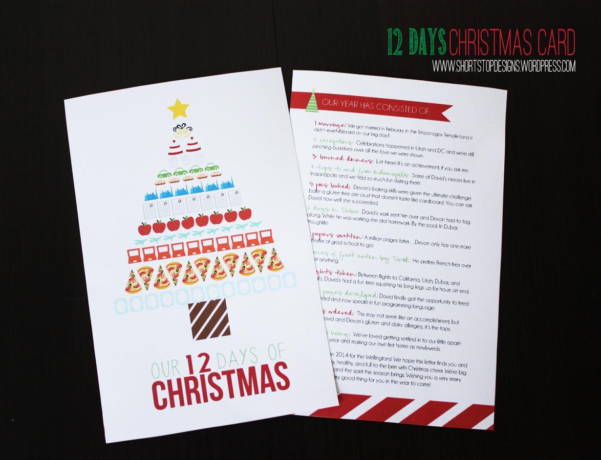 12 Days Christmas Card – Short Stop Designs