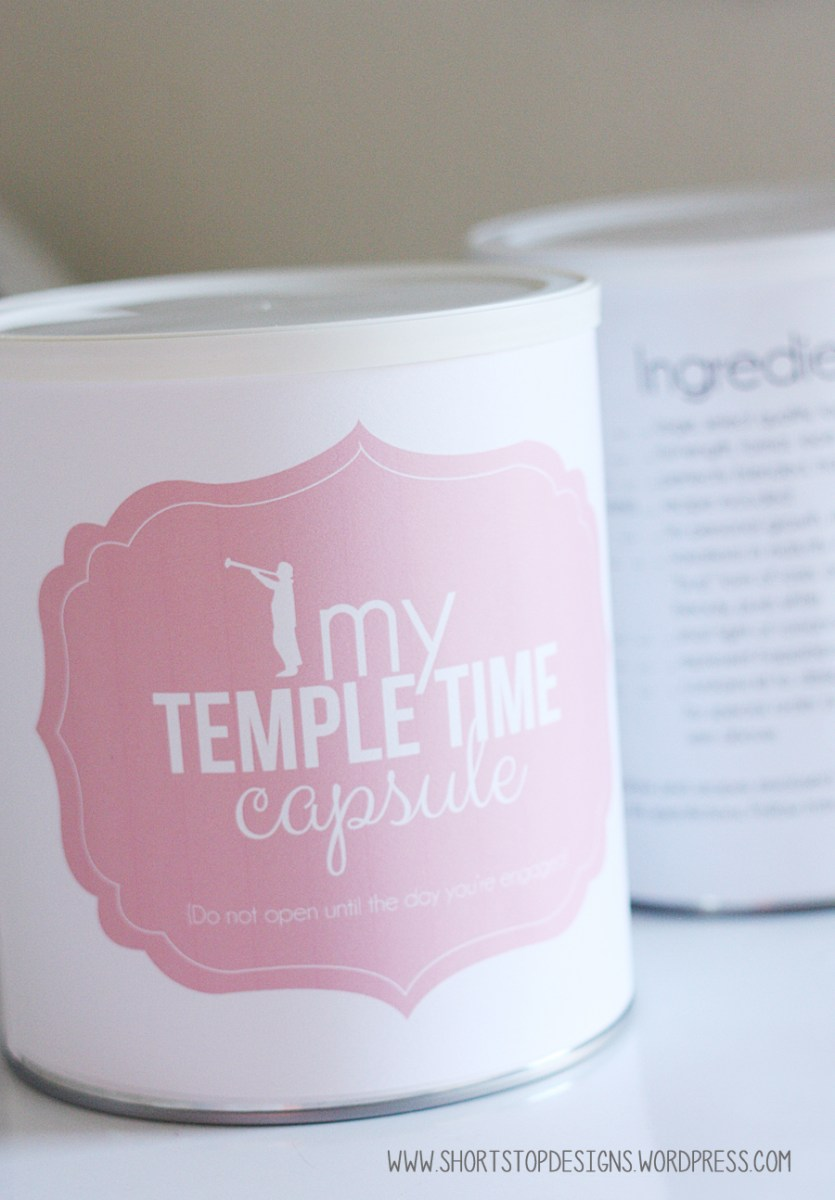 Temple Time Capsule Printables