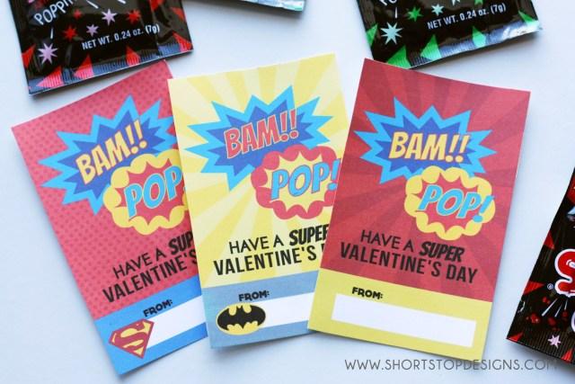 SUPER HERO VALENTINE'S DAY CARD PRINTABLES