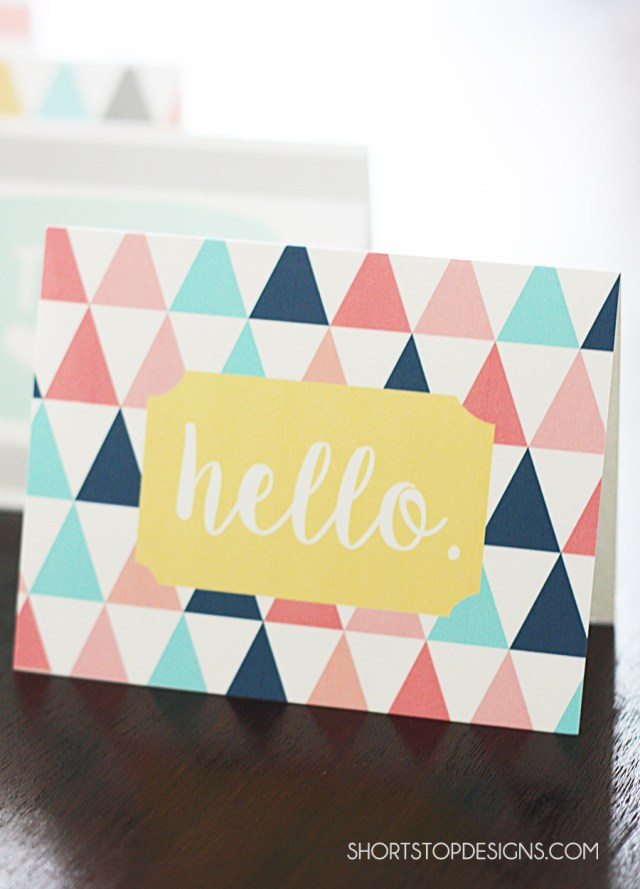 PRINTABLE NOTE CARDS HELLO