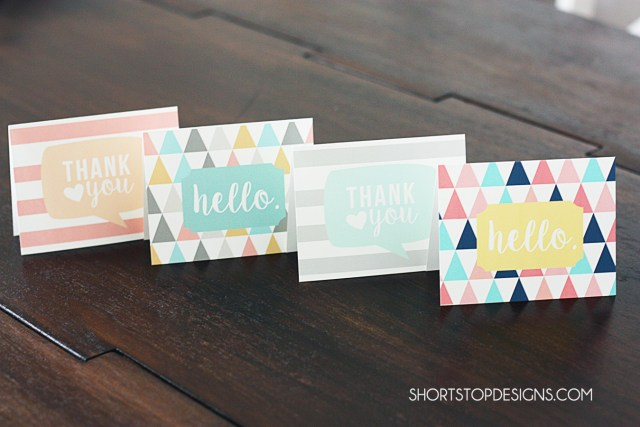 Printable Note Cards Display