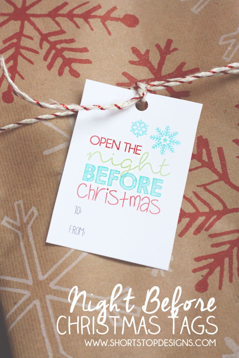 Night Before Christmas Gift Tags – Short Stop Designs