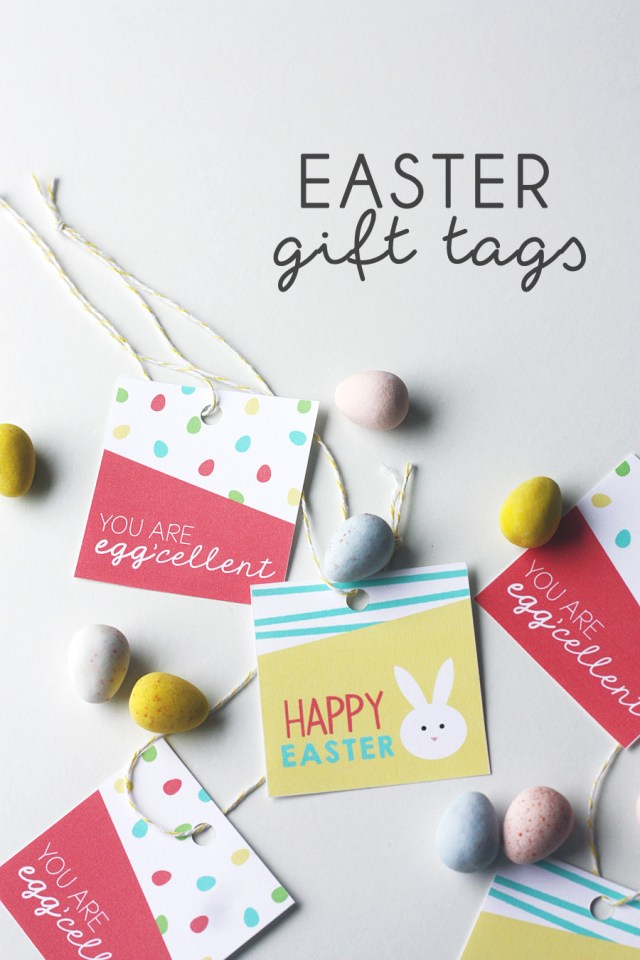 Easter Gift Tags Treats