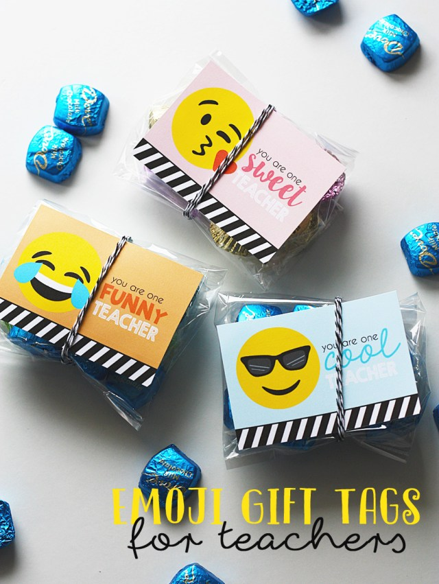 Emoji Teacher Gift Tags
