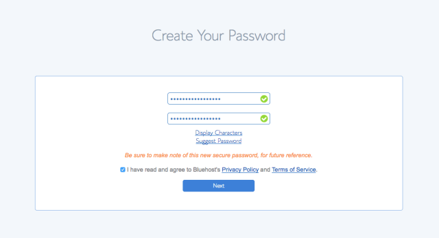 7 Password Step 2