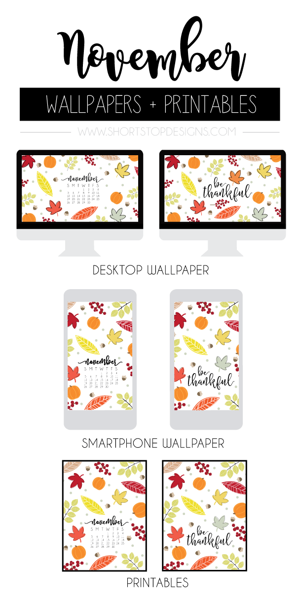 November Calendar Wallpaper And Printables