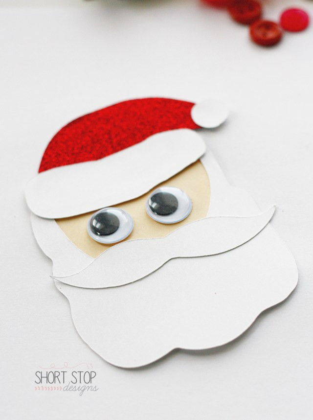 Santa Kids Craft Gift Tag