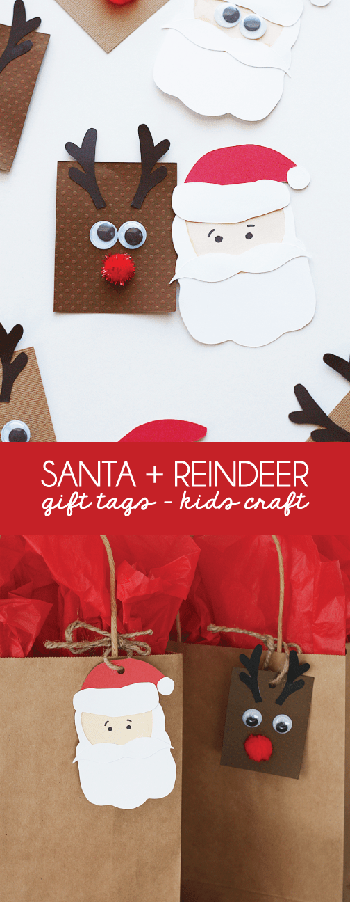 Santa-+-Reindeer-Gift-Tag-Kids-Craft