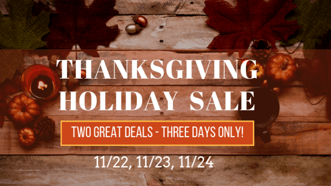 thanksgiving holiday sale