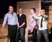 With Kerry Griffin, Colin Mochrie, Ralph MacLeod at The Bad Dog Theatre, January 3, 2015. Photo courtesy of Neil Muscott