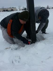 shortyknits winter geocaching
