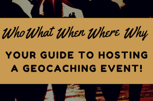 Hosting geocaching event shortyknits
