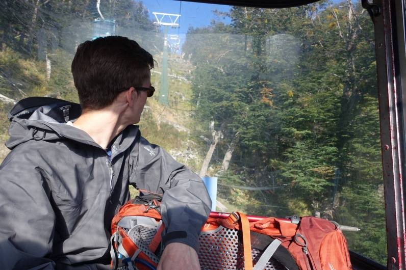 Kyle's first chairlift ride, Cerro Catedral
