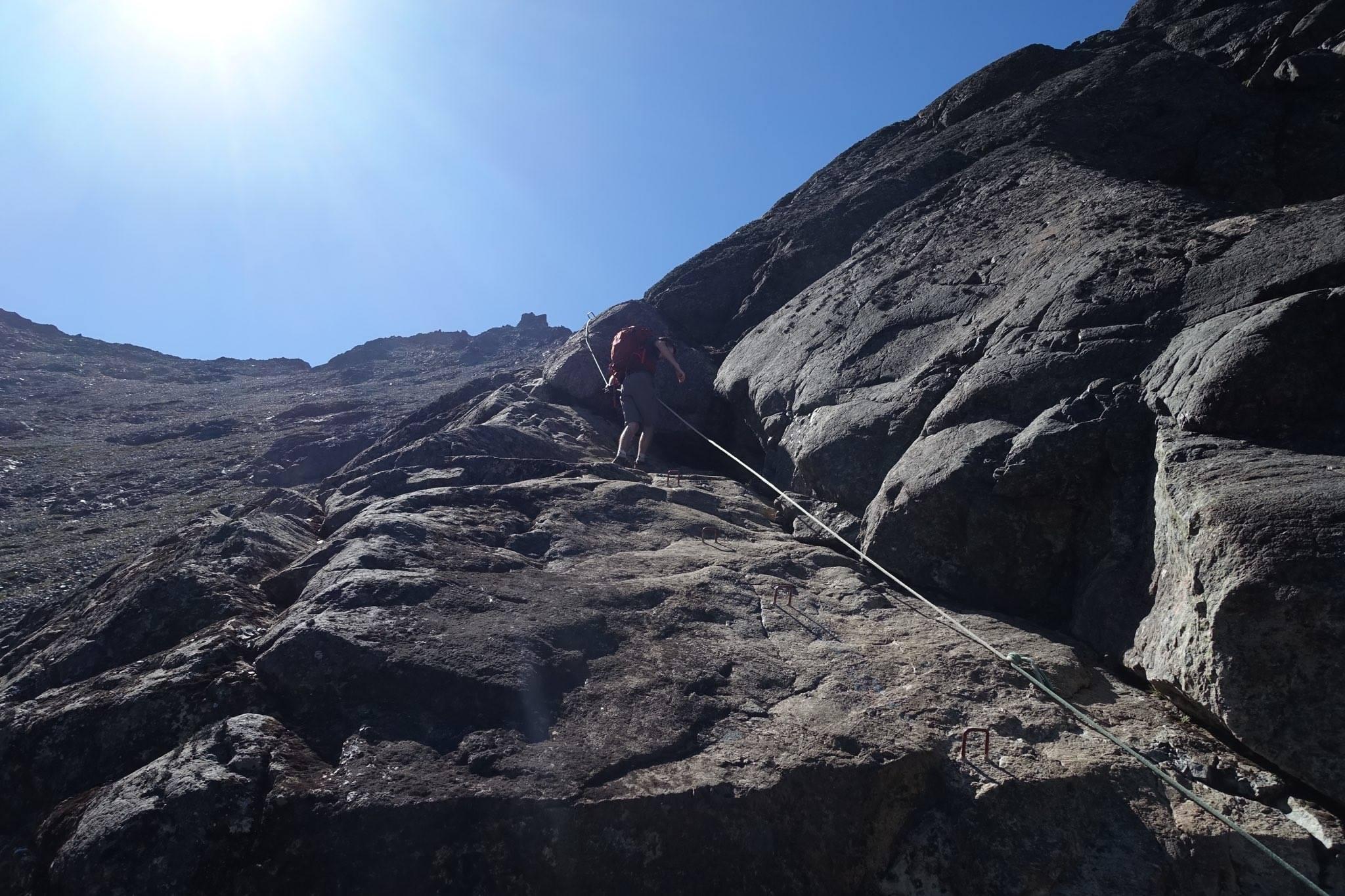 Kyle on trail around Laguna Negra
