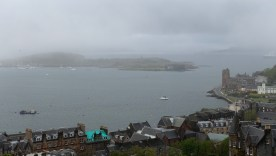 Looking out over Oban from McCraig's Tower on a cloudy morning