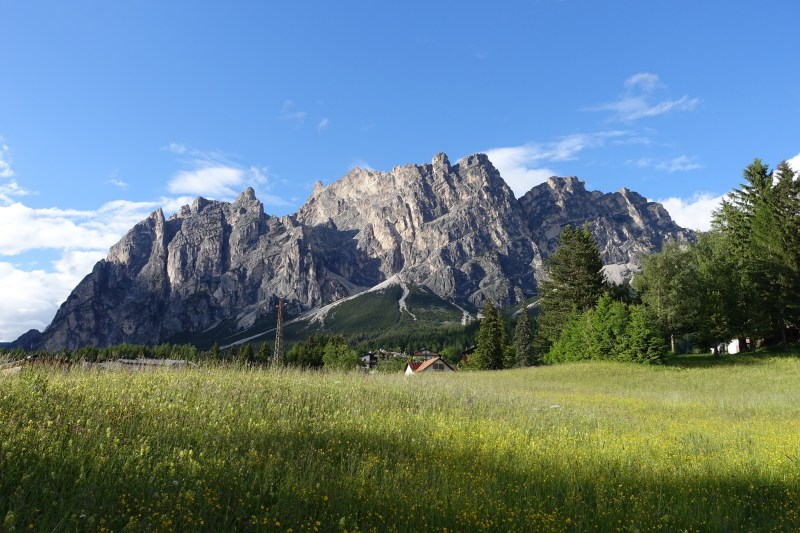 Pomagagnon, Dolomites. View from Just north of Cortina d'Ampezzo.