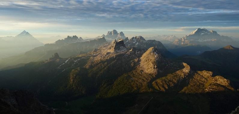 Dawn, from Antelao to Civetta