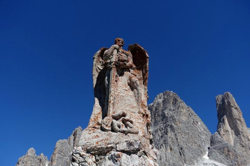 WWI Memorial and the Tre Cime di Lavaredo