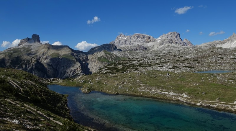 Small lakes and Schwabenalpenkopf / Torre dei Scarperi