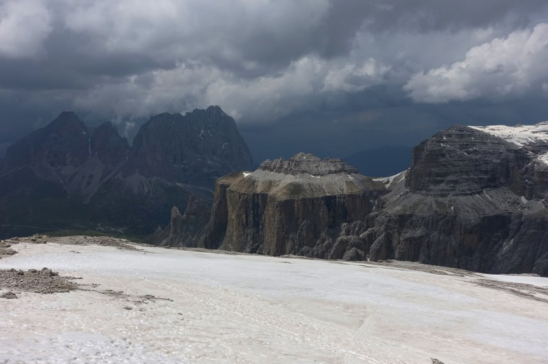 Sassolungo from the Sella Massif