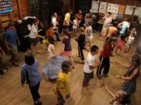Contra dancing at Cold River Camp