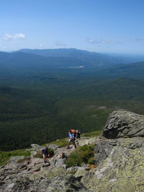 Two hikes on Ridge of the Caps trail, Mount Jefferson, White Mountain National Forest