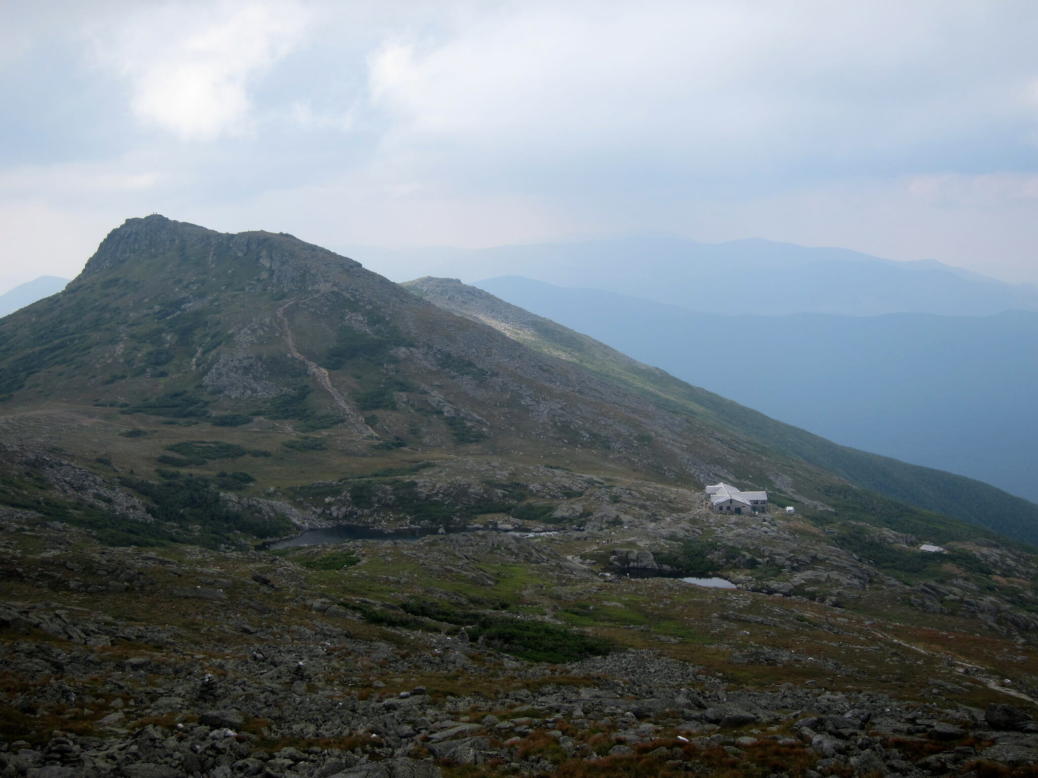 Lakes of the Clouds Hut and lakes, Mount Washington