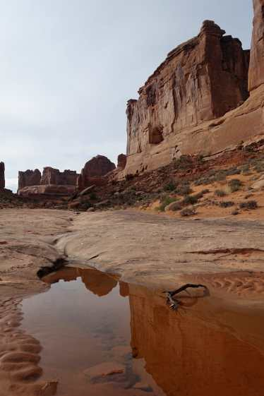 A small pool in Park Avenue, Arches National Park
