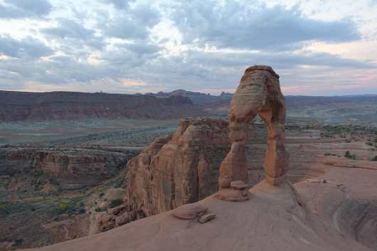 Hints of dawn at Delicate Arch, Arches National Park