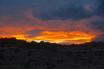 Orange sunset, The Needles District, Canyonlands National Park