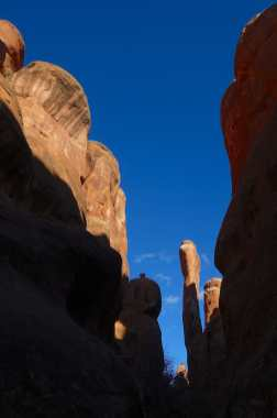 At Skull Arch, Fiery Furnace, Arches National Park