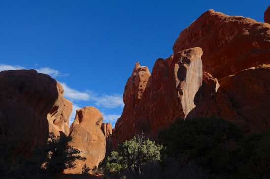 alcove in the Fiery Furnace, Arches National Park