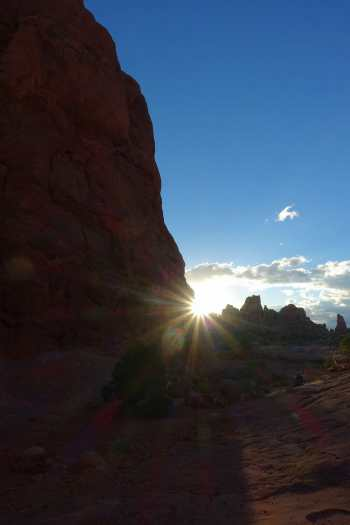 Sunrise in the Windows Section, Arches National Park