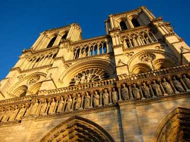 Notre Dame at golden hour