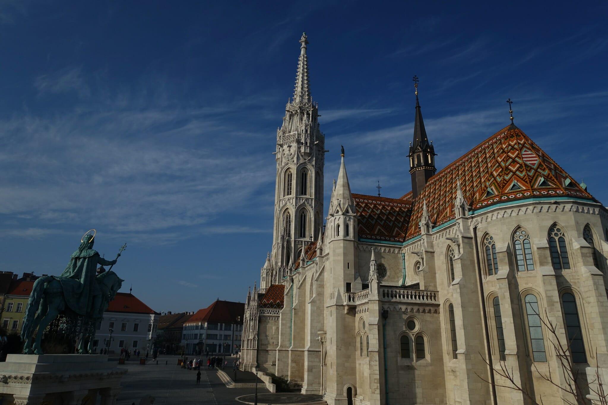 Matthias Church & Szent István szobra