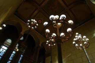 Lights seen on Parliament Building tour, Budapest
