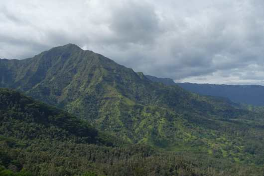 view of mountains from Okolehao Trail