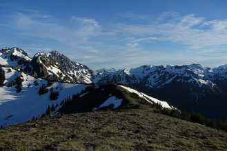 Looking into the Olympic Mountains from above Marmot Pass