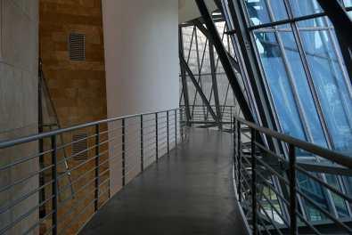 Walkway in the Guggenheim Bilbao