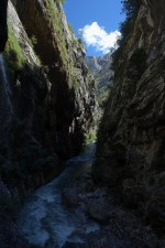 Narrow section in the Cares Gorge