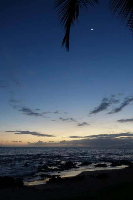 Dusk on the beach in Kihei