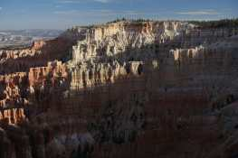 View of windows in hoodoos, seen from Inspiration Point