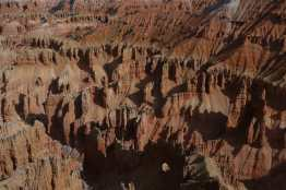 Hoodoos, including a natural arch, far below at Cedar Breaks National Monument