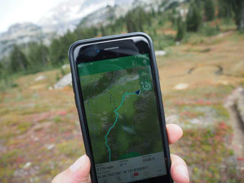 On the trail, we tend to interact with the inReach through the iOS app