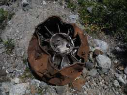 Engine from a crashed plane