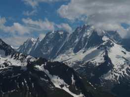 view from Aiguillette des Posettes